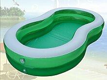 FACAI888 8-förmigen großen Pool / Familie aufblasbarer Swimmingpool / grün