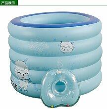 FACAI888 Aufblasbare Schwimmbecken aufblasbare Baby Schwimmbad Erwachsene aufblasbare Badewanne Fass Kinderbadewanne