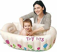 FACAI888 Baby-aufblasbare Wanne / aufblasbare Babybadewanne / Erwachsene falten Verdickung aufblasbare Zylinder / Kinder aufblasbare Badewanne / blau / gelb , yellow