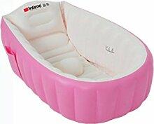 FACAI888 Baby-Badewanne / aufblasbares Pool / aufblasbare Wanne / Kind Falten aufblasbare Wanne / aufblasbare Verdickung Badewanne / Blau / Rosa , pink