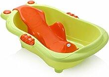 FACAI888 Baby Badewanne Säugling Duschliege verstellbare Badewanne Support Anti-Rutsch Neugeborenen verdickt sicher und ungiftig , green