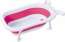 FACAI888 Baby Bath Tub Neugeborenen sicher und ungiftig verdickt Mini Portable Folding Reisen , C