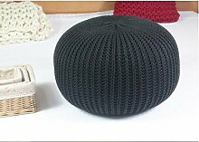 FACAI888 Fein gestrickte sat hocken Rundpolster Bohne Stuhl stricken Teppich Kissen , diameter 50 height 30