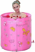 FACAI888 Hebende Faltwanne Trommel gesteppte Isolierung von erwachsenen aufblasbaren Wannenwannen Badfass , pink
