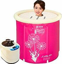 FACAI888 Home Dampfsauna Schweiß Dampfbad Aufblasbare Badewanne Erwachsenen Sauna Bad Barrel , pink , 65*70cm
