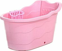 FACAI888 Kunststoff Baby Bath Tub Neugeborenen sicher und ungiftig Rückenlehne Rückenlehne verdickt Bad Lauf , pink