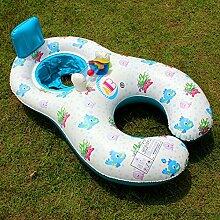 FACAI888 Spaß aufblasbaren Ring Schwimmer schwimmen , (100*70cm) fish pattern rice white