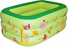 FACAI888 Trizyklische Platz aufblasbaren Pool / aufblasbares Schwimmbecken / aufblasbare Wanne / Kind Falten aufblasbare Wanne / aufblasbare Verdickung Badewanne / grün