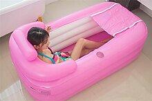 FACAI888 Verdickte aufblasbare Bäder Home Erwachsene Falten Tubs / Kinder Bäder / Bad Tubs / Kunststoff Bäder - Home Baths , pink