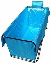 FACAI888 Verdickung erhöht Wärmedämmung in Erwachsenen Faltung Badewanne , days blue