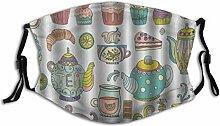 Face Guard Mundschutz Tea Party Kaffee und Dessert
