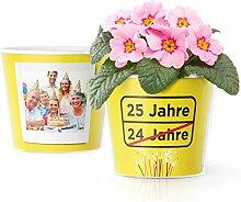 Facepot 25.Geburtstag Geschenk - Blumentopf