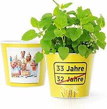 Facepot 33.Geburtstag Geschenk - Blumentopf