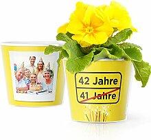 Facepot 42.Geburtstag Geschenk - Blumentopf