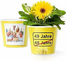 Facepot 49.Geburtstag Geschenk - Blumentopf