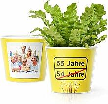 Facepot 55.Geburtstag Geschenk - Blumentopf