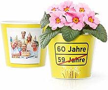 Facepot 60.Geburtstag Geschenk - Blumentopf