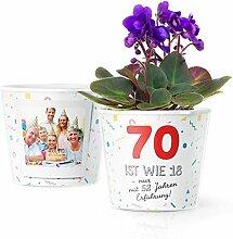 Facepot 70.Geburtstag Geschenk - Blumentopf