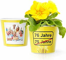 Facepot 76.Geburtstag Geschenk - Blumentopf