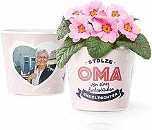 Facepot Oma Enkelin Geschenk - Blumentopf (ø16cm)