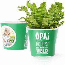 Facepot Opa Geschenke - Blumentopf (ø16cm) zum
