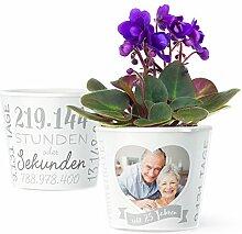 Facepot Silberhochzeit Geschenk Blumentopf