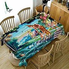 FaceToWind Blau Esstisch Tischdecke Luxus Partei