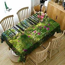 FaceToWind Draußen Blumen Tischdecke Wasserdicht