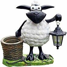 Fachhandel Plus Deko-Schaf mit LED-Lampe und