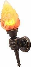 Fackel-Wandlampe, Retro- industrielles