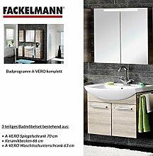 FACKELMANN Badmöbel Set A-Vero 3-tlg. 70 cm