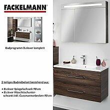 Fackelmann Badmöbel Set B.Clever 2-tlg. 90 cm