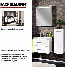 Fackelmann Badmöbel Set B.Clever 3-tlg. 100 cm