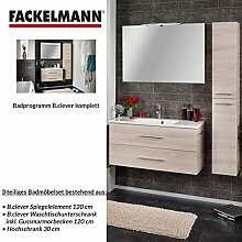 Fackelmann Badmöbel Set B.Clever 3-tlg. 120 cm