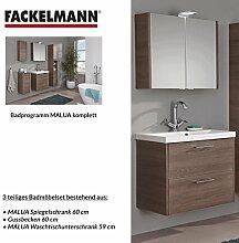 FACKELMANN Badmöbel Set Malua 3-tlg. 60 cm Eiche
