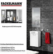 FACKELMANN Badmöbel Set Sceno Gäste WC 3-tlg. 45