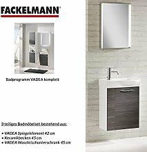 FACKELMANN Badmöbel Set Vadea Gäste WC 3-TLG. 45