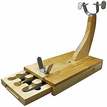 FACKELMANN Schinkenhalter aus Holz, mit Schubfach