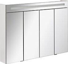 Fackelmann Spiegelschrank 110 cm Twindy Weiß EEK: