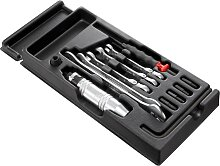 Facom Kunststoffmodul - Werkzeuge für Arbeiten an Scheibenfeststellbremsen   12-tlg
