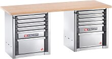 Facom Werkbank für schwere Lasten | 12 Schubfächer | 2 m lang