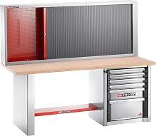 Facom Werkbank mit Werkzeugschrank für schwere Lasten | 6 Schubfächer | 2 m lang