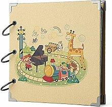 FaCraft Baby Scrapbook Vintage DIY Fotoalbum Babys (20,3 x 20,3 cm, Baby Spielplatz) Playground