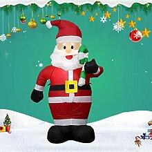 Factorys Aufblasbarer Weihnachtsmann mit Licht,