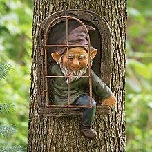 Facynde Gartenzwerge Garten Statue Dekoration