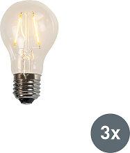 Faden LED Lampe A60 2W 2200K klar Set aus 3