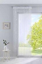 Fadengardine, HxB 250x140 cm, Weiß Lurex mit
