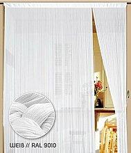 Fadenvorhang 100 cm x 200 cm weiß (BxH)