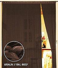 Fadenvorhang 150 cm x 300 cm (BxH) braun