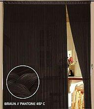 Fadenvorhang 150 cm x 300 cm (BxH) hellbraun
